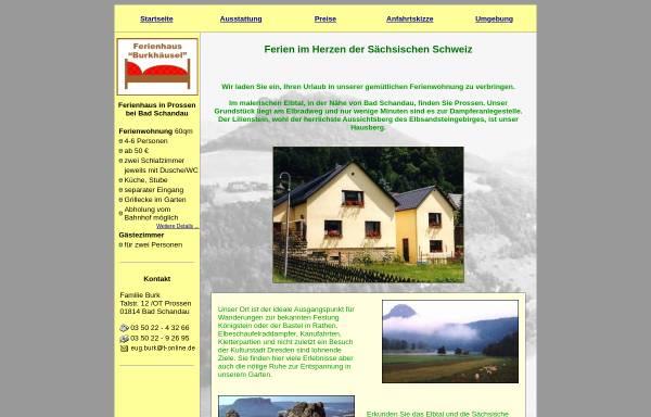 Vorschau von www.burkhaeusel.de, Ferienwohnung Burkhäusel
