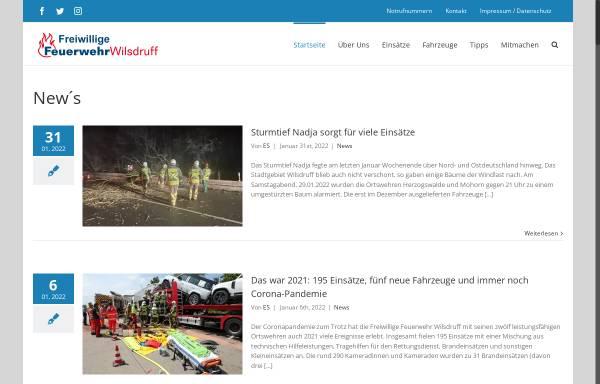 Vorschau von www.feuerwehr-wilsdruff.de, Homepage der Freiwilligen Feuerwehr der Stadt Wilsdruff
