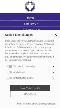 Vorschau der mobilen Webseite www.leben-und-arbeit.net, Internetsite zur Stiftung Leben und Arbeit