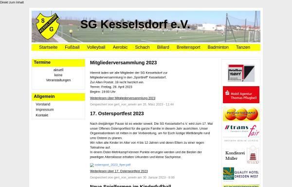 Vorschau von www.sg-kesselsdorf.de, SG Kesselsdorf e.V.