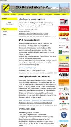 Vorschau der mobilen Webseite www.sg-kesselsdorf.de, SG Kesselsdorf e.V.
