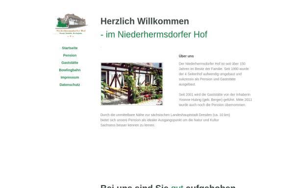 Vorschau von www.niederhermsdorfer-hof.de, Niederhermsdorfer Hof