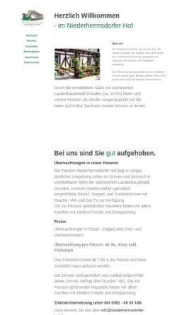 Vorschau der mobilen Webseite www.niederhermsdorfer-hof.de, Niederhermsdorfer Hof