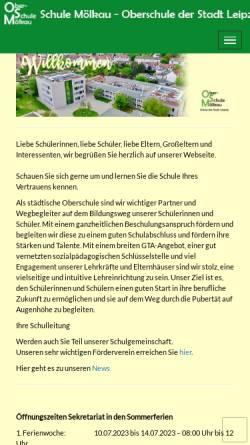 Vorschau der mobilen Webseite www.moelkau.de, Leipzig-Mölkau