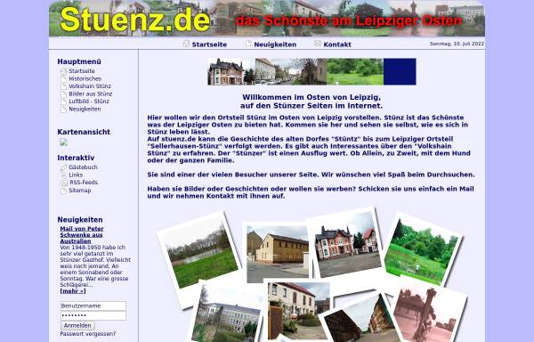 Vorschau von www.stuenz.de, Leipzig-Sellerhausen-Stünz