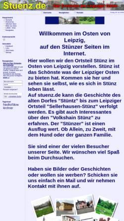 Vorschau der mobilen Webseite www.stuenz.de, Leipzig-Sellerhausen-Stünz
