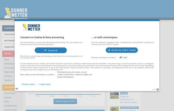 Vorschau von donnerwetter.de, Donnerwetter Region Leipzig