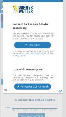 Vorschau der mobilen Webseite donnerwetter.de, Donnerwetter Region Leipzig
