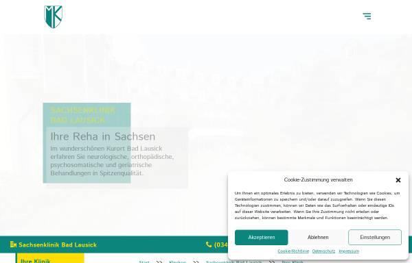 Vorschau von www.sachsenklinik.de, Bad Lausick, das Kur- und Heilbad für Ihre Gesundheit