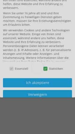 Vorschau der mobilen Webseite www.augenoptik-findeisen.de, Augenoptik Findeisen