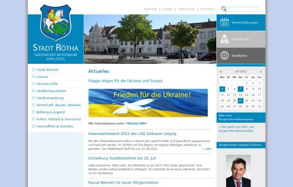 Vorschau von www.roetha.de, Stadt Rötha