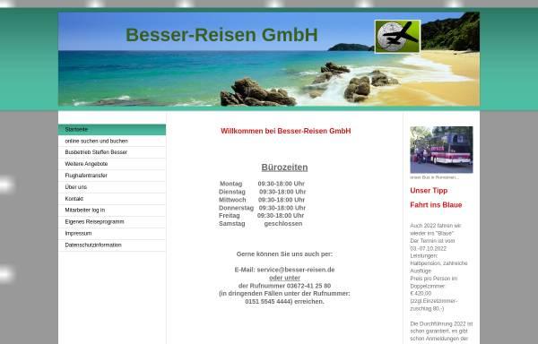 Vorschau von www.besser-reisen.de, Reisebüro Besser-Reisen GmbH
