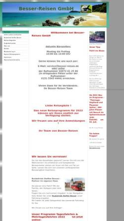 Vorschau der mobilen Webseite www.besser-reisen.de, Reisebüro Besser-Reisen GmbH