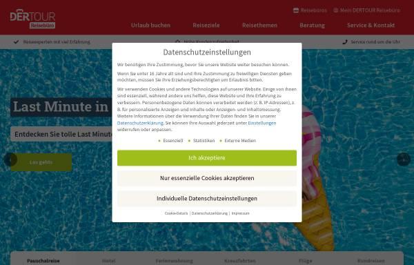 Vorschau von www.der.de, DER Deutsches Reisebüro