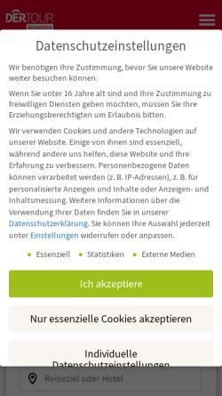 Vorschau der mobilen Webseite www.der.de, DER Deutsches Reisebüro