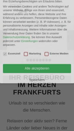Vorschau der mobilen Webseite reisegalerie.com, Die Reisegalerie GmbH