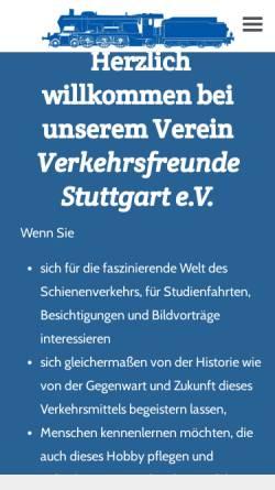 Vorschau der mobilen Webseite www.vfsev.de, Verkehrsfreunde Stuttgart e.V.