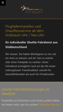 Vorschau der mobilen Webseite www.airport-liner.com, Braun, Nico - airport-liner.com