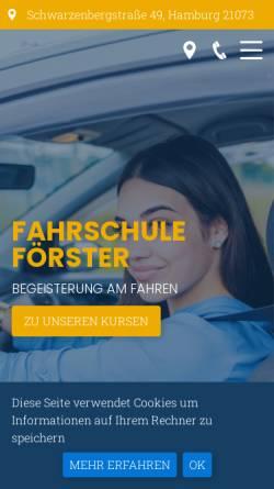 Vorschau der mobilen Webseite www.fahrschule-foerster.de, Fahrschule Förster