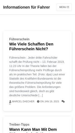Vorschau der mobilen Webseite www.fahrschule-krause-hw.de, Fahrschule Krause