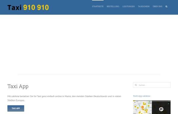 Vorschau von www.taxi-mainz.de, Allgemeine Funktaxi-Zentrale Mainz e.G.