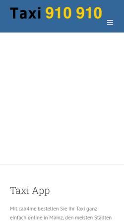 Vorschau der mobilen Webseite www.taxi-mainz.de, Allgemeine Funktaxi-Zentrale Mainz e.G.