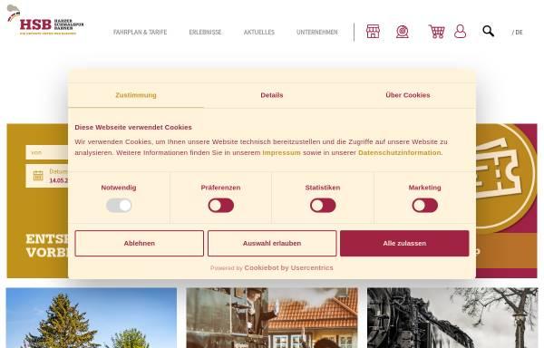 Vorschau von www.hsb-wr.de, HSB Harzer Schmalspurbahnen GmbH, Wernigerode