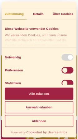 Vorschau der mobilen Webseite www.hsb-wr.de, HSB Harzer Schmalspurbahnen GmbH, Wernigerode