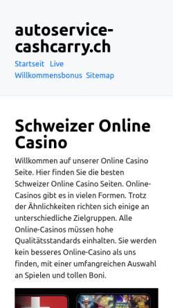 Vorschau der mobilen Webseite www.autoservice-cashcarry.ch, Autoservice Cash + Carry