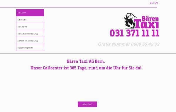 Vorschau von www.baerentaxi.ch, Bären, Bern