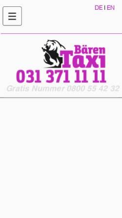 Vorschau der mobilen Webseite www.baerentaxi.ch, Bären, Bern