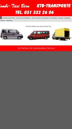 Vorschau der mobilen Webseite www.ktb-transporte.ch, KTB-Transporte, Bern