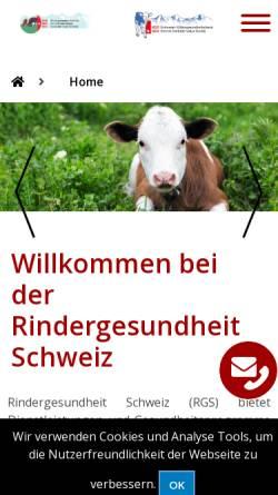 Vorschau der mobilen Webseite www.rgd.ch, RGD Rindergesundheitsdienst