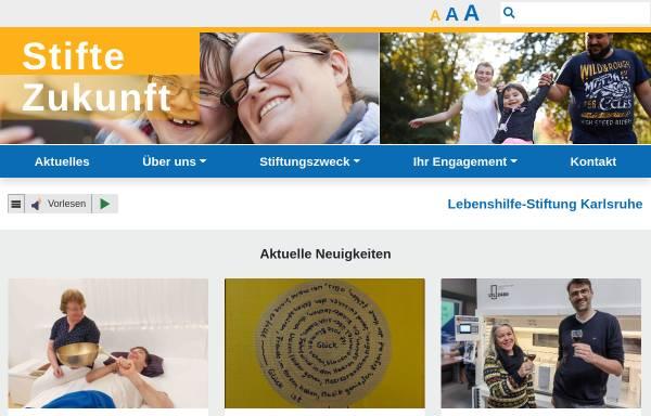 Vorschau von stifte-zukunft.de, Lebenshilfe-Stiftung Karlsruhe