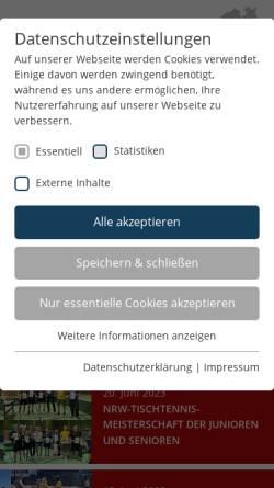 Vorschau der mobilen Webseite www.gsnrw.de, Gehörlosen-Sportverband Nordrhein-Westfalen e.V.