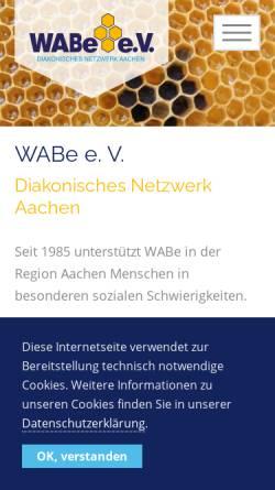Vorschau der mobilen Webseite www.wabe-aachen.de, WABe e.V. Aachen