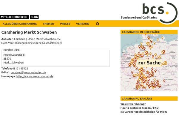 Vorschau von carsharing.de, Carsharing-Union Markt Schwaben e.V.