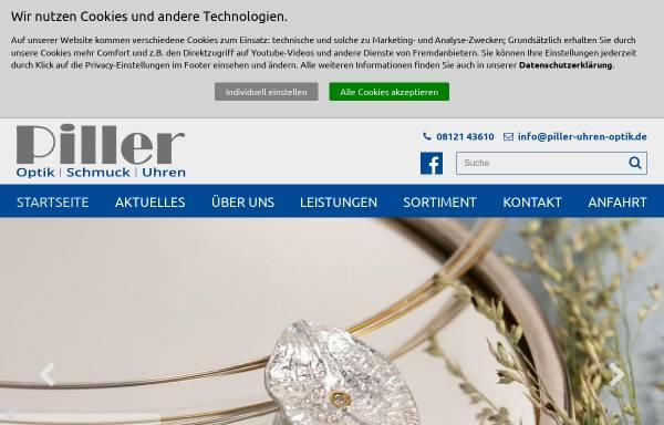 Vorschau von www.piller-uhren-optik.de, Uhren-Schmuck-Augenoptik Piller