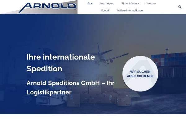 Vorschau von www.arnold-spedition.de, Arnold Spedition GmbH & Co. KG