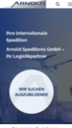 Vorschau der mobilen Webseite www.arnold-spedition.de, Arnold Spedition GmbH & Co. KG