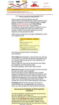 Vorschau der mobilen Webseite www.rankhigher.de, PageRank Tool