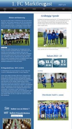 Vorschau der mobilen Webseite www.fc-marktleugast.de, FC Marktleugast 1927