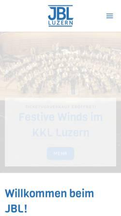 Vorschau der mobilen Webseite www.jbl-luzern.ch, Jugend-Blasorchester der Stadt Luzern
