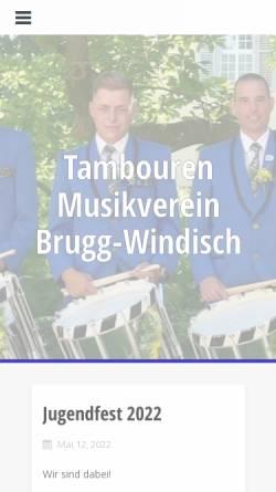 Vorschau der mobilen Webseite www.mvbw.ch, Musikverein Brugg-Windisch