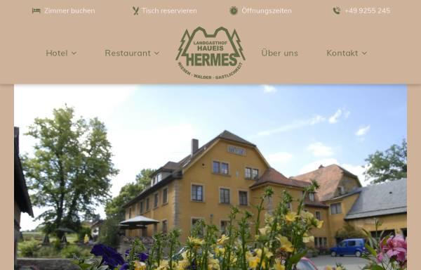 Vorschau von www.landgasthof-haueis.de, Landgasthof Haueis Hermes