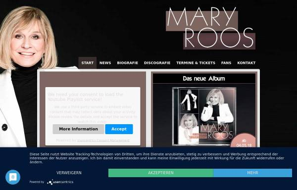 Roos, Mary: Musiker, Schlager mary-roos.de