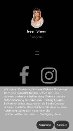 Vorschau der mobilen Webseite www.ireensheer.de, Sheer, Ireen