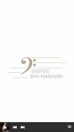 Vorschau der mobilen Webseite www.jens-hamann.de, Hamann, Jens