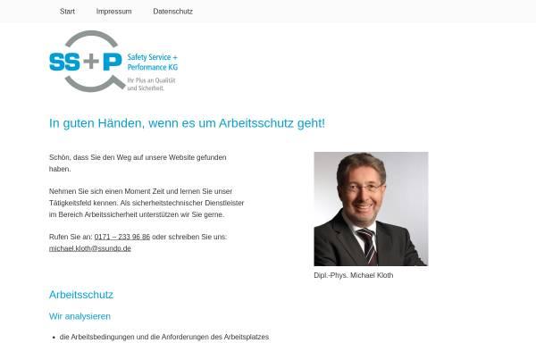 Vorschau von ssundp.de, Safety Service und Performance GmbH