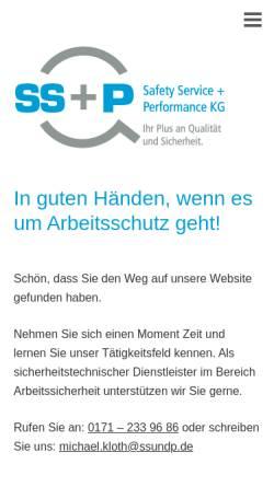 Vorschau der mobilen Webseite ssundp.de, Safety Service und Performance GmbH